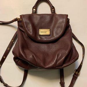 Marc Jacobs burgundy leather handbag/backpack